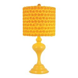 One Light Yellow Table Lamp