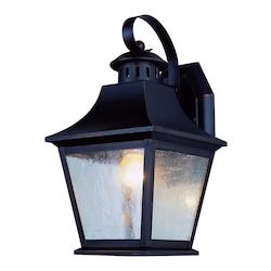 One Light Rubbed Oil Bronze Clear Seeded Glass Wall Lantern
