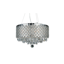 6 Light Clear Crystal Round Ceiling Fixture - Bethel LX06