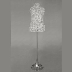 9 Light Aluminum Wire Ladys Model Stand Lamp - Bethel MN06