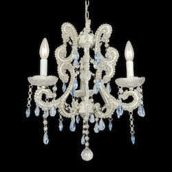 3 Light Pink Crystal Ceiling Fixture - Bethel ET01