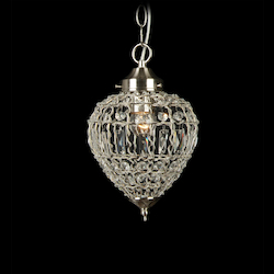 1 Light Ceiling Fixture With Clear Crystals - Bethel KS10