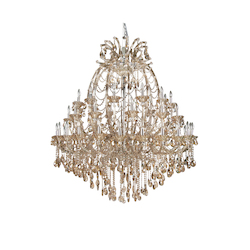 48 Light Champagne Color Crystal Chandelier - Bethel 4307XXXL-GT
