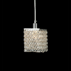 1 Light Ceiling Pendant With Clear Crystals - Bethel KS13