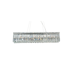12 Light Clear Crystal Rectanguler Ceiling Fixture - Bethel LX02