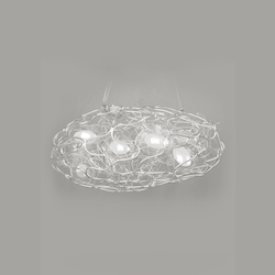 8 Light Aluminum Wire Silver Ceiling Fixture - Bethel MN17