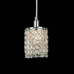 1 Light Ceiling Pendant With Clear Crystals - Bethel KS12