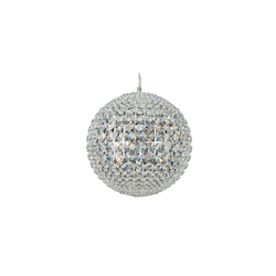 7 Light Clear Crystal Ball Shape Ceiling Fixture - Bethel LX13