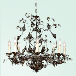 8 Light Crystal Ceiling Fixture - Bethel FAL58-A2