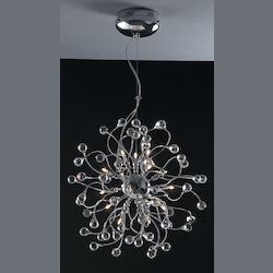 18 Light Clear Crystal Pendant Ceiling Fixture - Bethel KA91