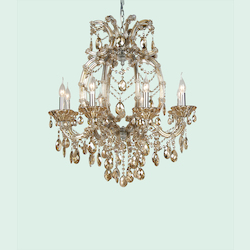 8 Light Champagne Crystal Chandelier - Bethel 4307GT