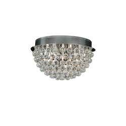 5 Light Clear Crystal Round Ceiling Fixture - Bethel LX19