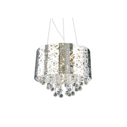 7 Light Chrome Shade Clear Crystal Ceiling Fixture - Bethel OL01