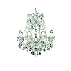 8 Light Clear Crystal Chandelier - Bethel 4307C