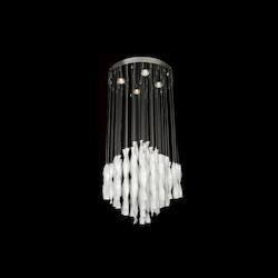 4 Light Opaque White Crystal Ceiling Fixture - Bethel LX23