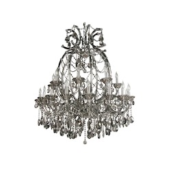16+8 Light Smoky Color Crystal Chandelier - Bethel 4307XXL-SMK