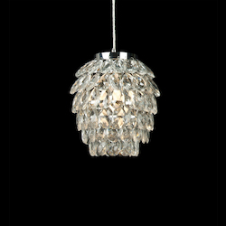 1 Light Ceiling Pendant With Clear Crystals - Bethel KS11