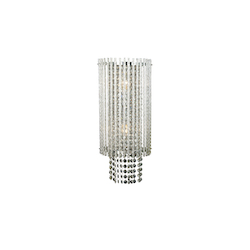 2 Light Clear Crystal Chrome Wall Sconce - Bethel YS149