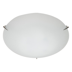 Three Light Brushed Nickel Sandblasted And Acid Glass Bowl Flush Mount