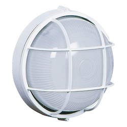 One Light White Semi-Clear White Glass Marine Light