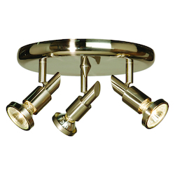 Three Light Brushed Nickel Directional Flush Mount