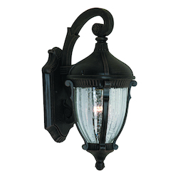 One Light Optic Clear Glass Oil Bronze Wall Lantern