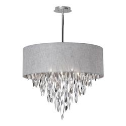 8-Light Chandelier with Grey Shade - 164995