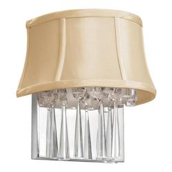 2LT Crystal Wall Sconce, SGlo CRM Shade - 164998