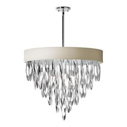 8-Light Chandelier with Pebble Shade - 165000