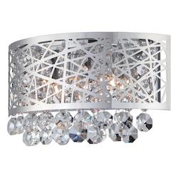 #Wall Sconce, Chrome/Crystals, Type Jcd/G9 25Wx3
