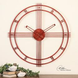 Fenella Red Wall Clock