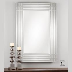 Amelina Beveled Frameless Mirror