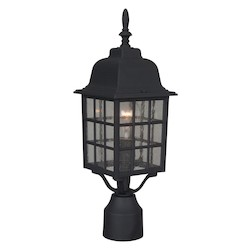Craftmade One Light Black Post Light - Z275-05