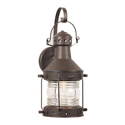 Craftmade One Light Burnished Copper Wall Lantern - Z114-7