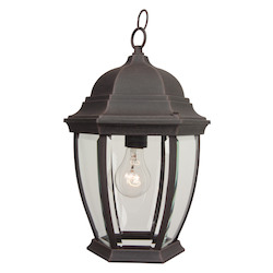 Craftmade One Light Black Hanging Lantern - Z281-07