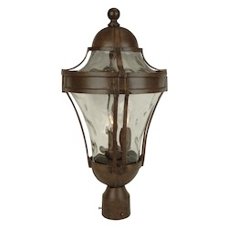 Craftmade Three Light Bronze Post Light - Z4225-98