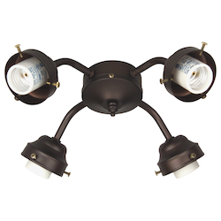 Craftmade Four Light Ob - Oiled Bronze Fan Light Kit - F400CFL-OB