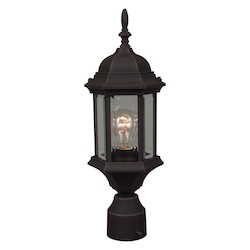 Craftmade One Light Black Post Light - Z295-07