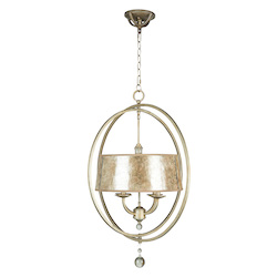 Jeremiah Four Light Athenian Obol Mica Glass Up Chandelier - 35534-AO