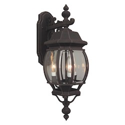 Craftmade Three Light Black Wall Lantern - Z334-07