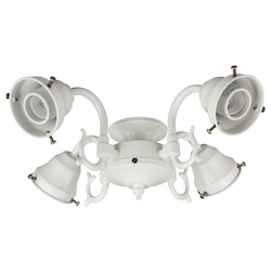 Craftmade Four Light W - White Fan Light Kit - F440CFL-W