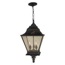 Craftmade Three Light Black Hanging Lantern - Z1411-07