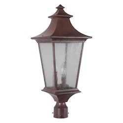 Craftmade Three Light Aged Bronze Post Light - Z1375-98