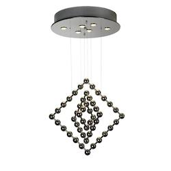 Six Light Polished Stainless Steel Down Pendant - Trend Lighting TP9531