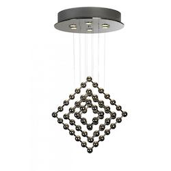 Six Light Polished Stainless Steel Down Pendant - Trend Lighting TP9533