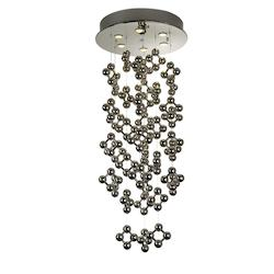 Six Light Polished Stainless Steel Down Pendant - Trend Lighting TP9546