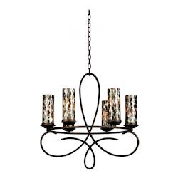 Heirloom Bronze With Black Iridescent Ns22 For Grayson 6 Light Chandelier