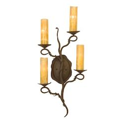 Bark Vine 4 Light Ada Compliant Wallchiere Sconce