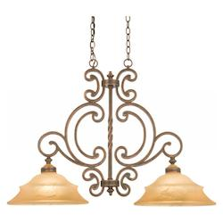 Copper Claret Hamilton 2 Light Linear Pendant