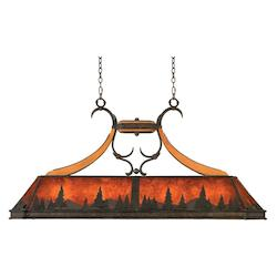 Natural Iron Aspen 5 Light Linear Pendant